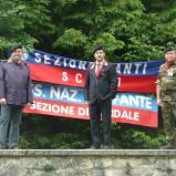Da sinistra: Ten. Stefano Fadone, vice presidente della Sezione di Cividale del Friuli; Carlo Dorigo Presidente della Sezione di Cividale del Friuli; Alberto Toldo, ex Sergente ACS della Fanteria d'Arresto (52° RGT Fanteria Arresto Alpi').