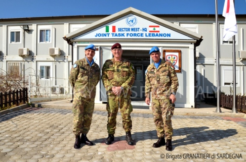 Gen. Paolo Serra, Gen. Marco Bertolini, Gen. Maurizio Riccò