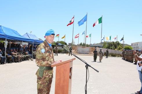 Il generale POLLI durante il discorso
