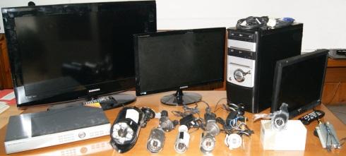 Il sistema di videosorveglianza trovato nell'abitazione