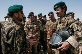 Militari italiani e afghani dopo l'esercitazione