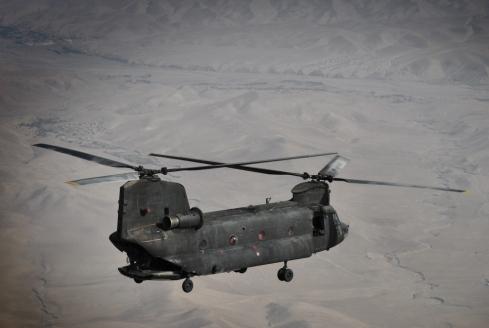 CH-47 in volo nella provincia di Herat