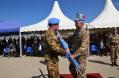 Il generale Del Col riceve la bandiera dell'ONU