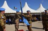 Il gen. Polli riconsegna la bandiera dell'ONU