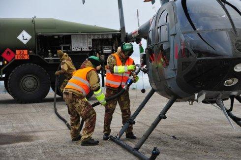 Attività FARP a cura 3° Stormo con elicottero TH500B del 72° Stormo