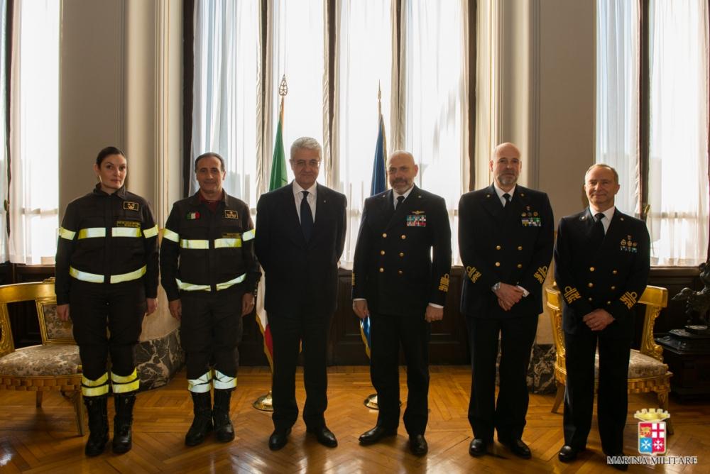Marina militare e vigili del fuoco: siglato accordo di collaborazione (1/2)
