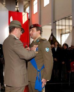 Consegna Croce di bronzo al Merito dell'Esercito al Colonnello Albamonte