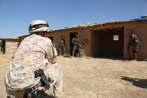 I Peshmerga si muovono in centro abitato