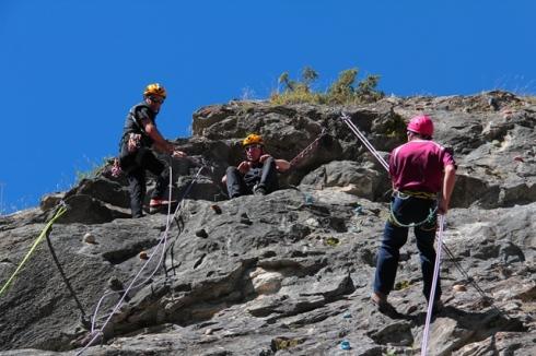 Addestramento su parete rocciosa