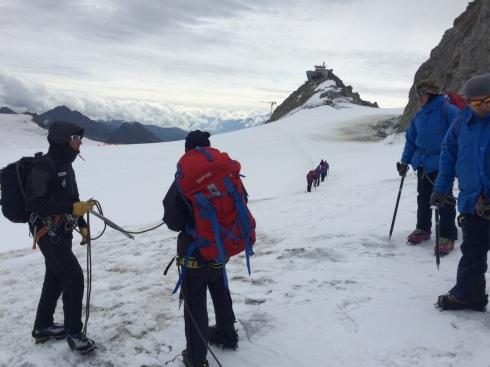 Addestramento sul ghiacciaio