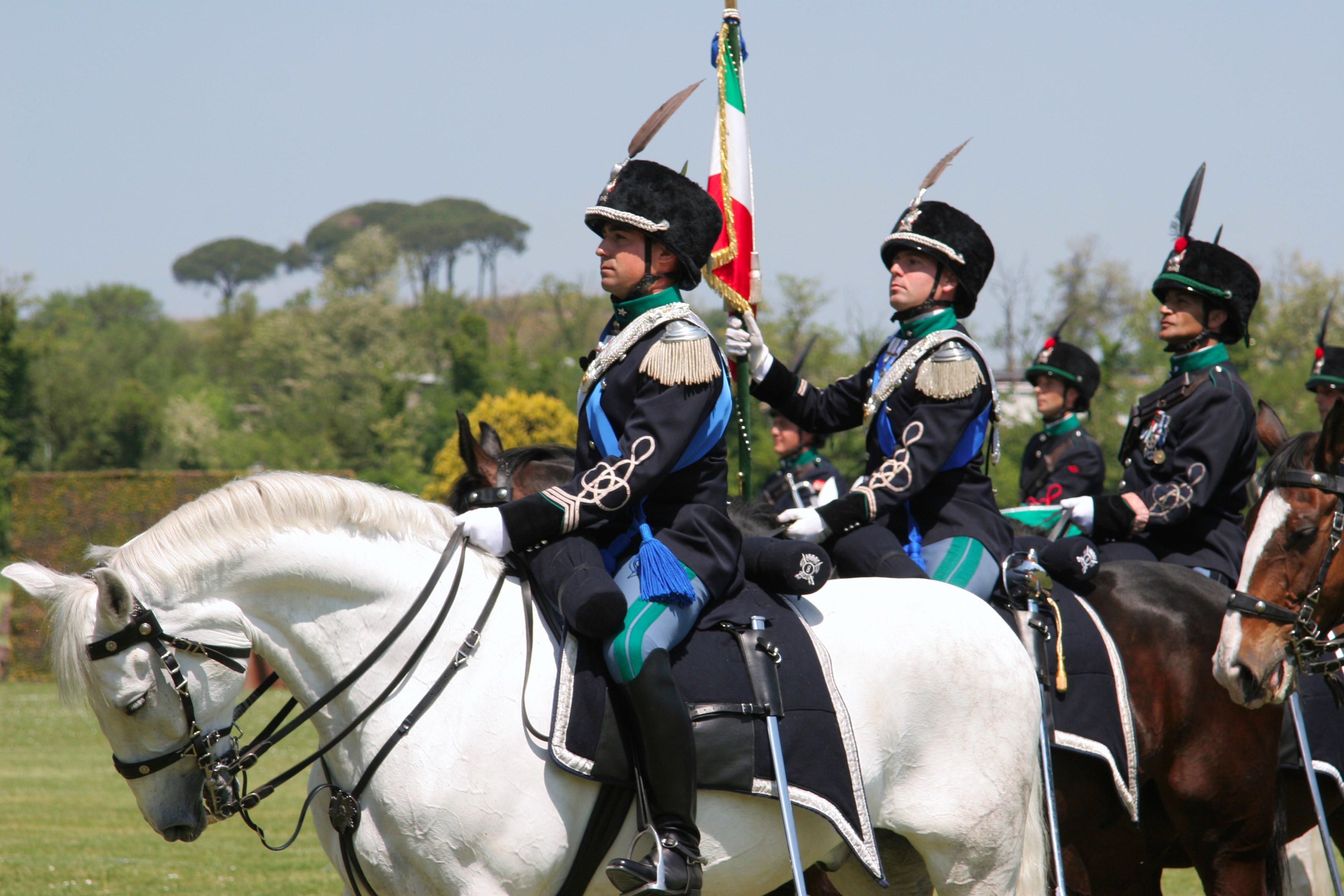 Lancieri di montebello military news from italy for Bandiera di guerra italiana
