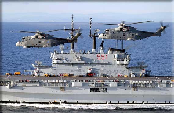 Marina militare l italia assume il comando della forza - Nave portaerei ...