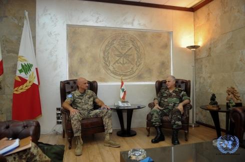 Il gen. Portolano incontra il comandante delle LAF gen. Jean Kawagi