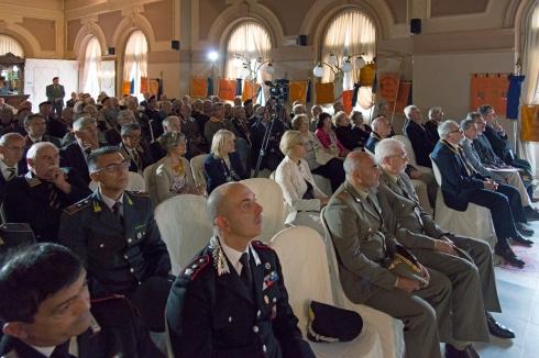 Le autorità militari presenti alla conferenza stampa