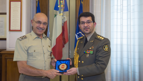Il generale Danilo Errico e il colonnello Davood Ramezani