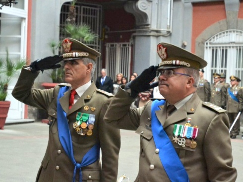 Da sin. generale Raffaele e generale Polimeno
