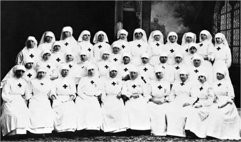 Infermiere Volontarie della Croce Rossa durante la prima Guerra Mondiale