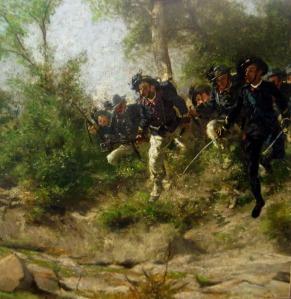 Particolare del dipinto sequestrato