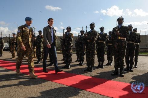 Resa degli onori al ministro austriaco Sebastian Kurz