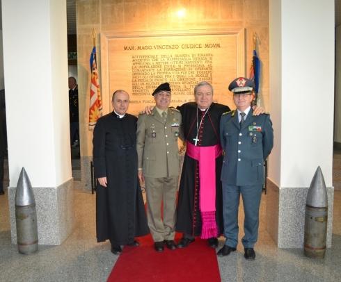 Don Claudio Recchiuti Gen. DE VITO MONS. MARCIANO' Gen. CARBONE