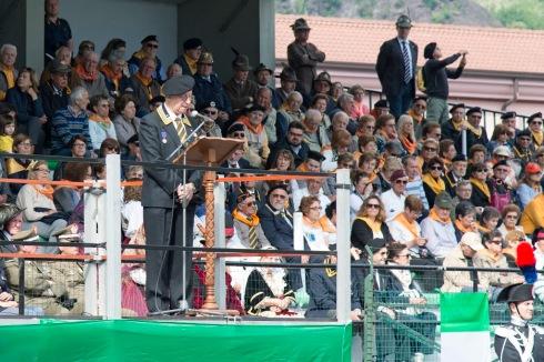 Il generale Rocco Viglietta durante la sua   allocuzione
