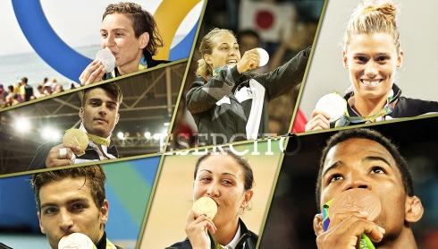 Atleti Esercito medagliati, Rio 2016