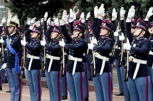 Allievi del corso Turinetto II al momento del giuramento2