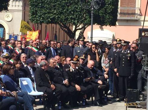 il Cte Generale Del Sette a Locri per la Giornata in ricordo delle vittime delle Mafie
