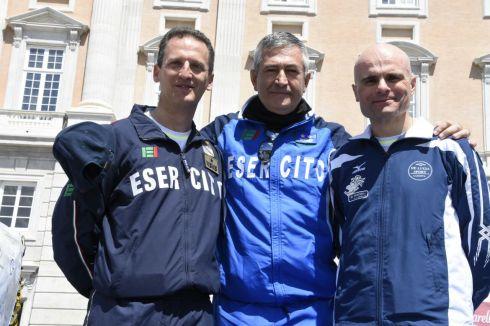Guardando da sx verso dx Gen. B. Terzano, Gen. D. Tota e Col. Ciotti