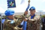 Il passaggio della bandiera ONU che sancisce il Traferimento diAutorità