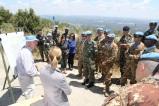 Il personale di UNIFIL HQ illustra le caratteristiche della Blue Line