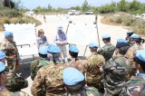 Il personale di UNIFIL Sector West durante il briefing