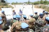 Il personale di UNIFIL Sector West durante il briefing