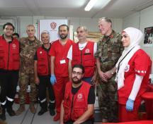 il Comandante di UNIFIL, Maggior Generale Beary, e del Contintingente italiano, Generale di Brigata Olla