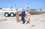 Il Generale di Brigata Olla accompagnato dai SignoriMillevoi
