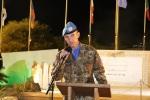 Il Generale Olla durante il suo discorso sulla devozione interreligiosa per la figura dellaMadonna