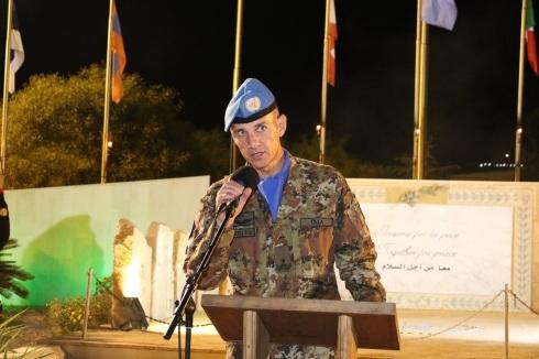 Il Generale Olla durante il suo discorso sulla devozione interreligiosa per la figura della Madonna