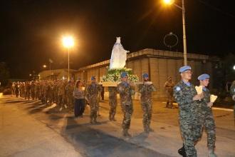 Processione del contingente internazionale di UNIFIL Sector West