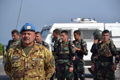 Il Comandante di ITALBATT, Col. Massimo Crocco Barisano Colizza