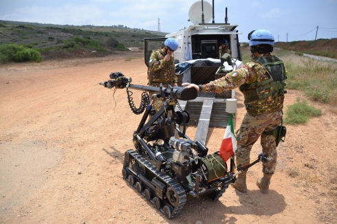 L'assetto EOD con relativo equipaggiamento robotico