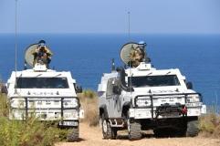 Posto di osservazione di una squadra di ITALBATT nei pressi della Blue L...