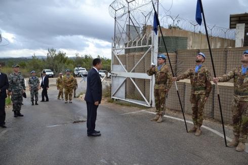 S.E. Wang Kejian visita la base avanzata italiana UN-P 1-31