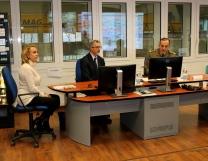 Foto n. 1 Briefing illustrativo attività presso sala opertiva della Centrale Acea Fonti del Peschiera