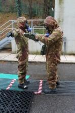 Foto n. 6 Controllo livello di contaminazione del personale della squadra SIBCRA intervenuta