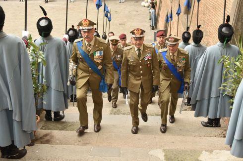 Ingresso del Capo di Stato Maggiore dell'Esercito
