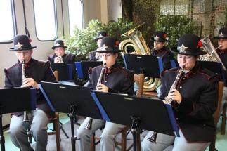 Un momento della cerimonia-banda musicale con uniforme storica - Copia