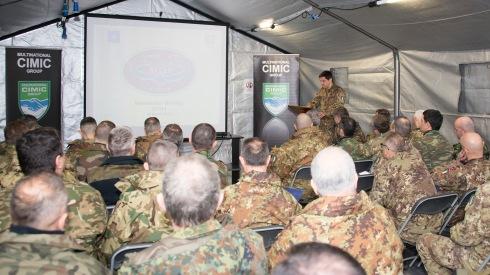 Il Comandante del CIMIC Group illustra i lineamenti dell'esercitazione