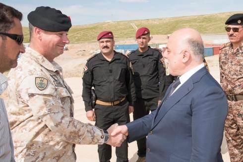 TF Praesidium_Il Comandante la Task Force Praesidium, Col Maurizio Settesoldi incontra il Primo Ministro Iracheno Ḥaydar al-ʿAbādī