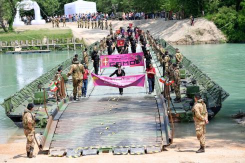 Il Ponte del 2° reggimento Genio Pontieri sul fiume Piave