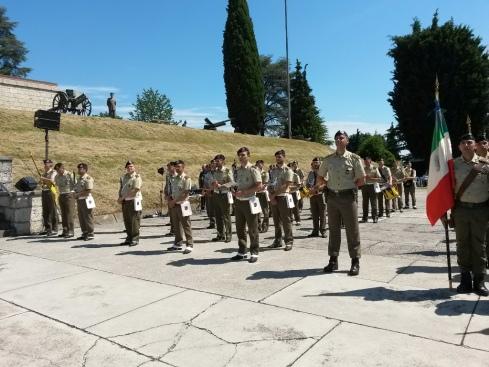La Batteria del IV Reggimento Artiglieria schierata a Nervesa